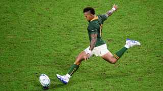 The Springbok No 10, who played a back-up role to Handre Pollard in Japan as the Boks went all the way and lifted the Webb Ellis Cup, has had little time off since returning home with a winners' medal in the bag. Photo: Reuters