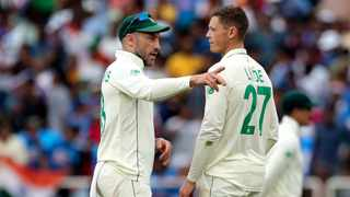 Faf du Plessis (left) says they is no quick way to fix what is going on with the Proteas test team after their series loss against India. Photo: Aijaz Rahi/AP Photo
