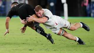 England's Sam Underhill was immense for the England in their shock win over New Zealand last week. Photo: Eugene Hoshiko/AP Photo