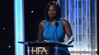 Viola Davis presents the Hollywood breakout actress award at the 23rd annual Hollywood Film Awards on Sunday, Nov. 3, 2019, at the Beverly Hilton Hotel in Beverly Hills, Calif. (Photo by Chris Pizzello/Invision/AP)