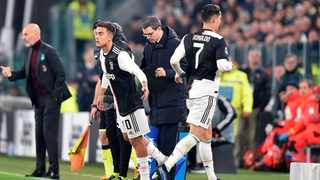 Juventus' Cristiano Ronaldo (right) wasn't happy being substituted. Photo: Alessandro Di Marco/ANSA via AP