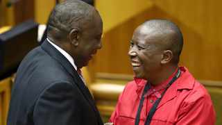 President Cyril Ramaphosa and EFF party leader Julius Malema. Picture: Sumaya Hisham/Reuters/African News Agency (ANA)