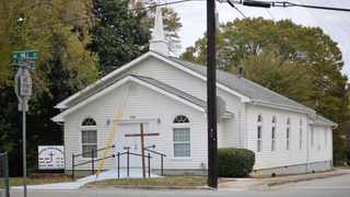 A white 16-year-old girl is accused of plotting to attack a mostly black church in Gainesville. Picture: Nick Bowman/ Gainesville Times via AP