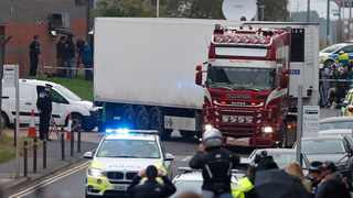 Maurice Robinson, the truck driver charged with manslaughter over the deaths of 39 Vietnamese migrants found in the back of a truck, pleaded guilty. Picture: AP Photo/Alastair Grant, File