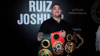 World heavyweight champion Andy Ruiz Jr believes his re-match with Anthony Joshua will be a harder fight than his stunning victory in June but says all the pressure is on the Briton ahead of their showdown in Saudi Arabia this weekend. Photo: Andrew Couldridge/Reuters