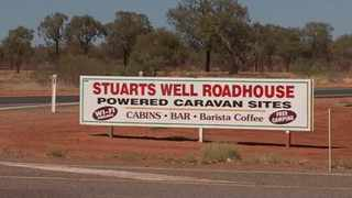Tamra McBeath-Riley, 52, was being treated in an Alice Springs hospital for dehydration and exposure after she was found. Picture: Australian Broadcasting Corporation via AP