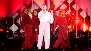 Sam Smith performs during iHeartRadio Jingle Ball concert at The Forum in Inglewood. Picture: Reuters