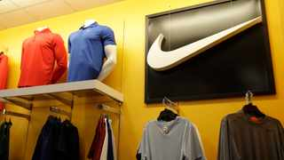 FILE - In this Nov. 29, 2019, file photo Nike clothes are displayed at a Kohl's store in Colma, Calif. Nike Inc. repored earnings on Thursday, Dec. 19. (AP Photo/Jeff Chiu, File)