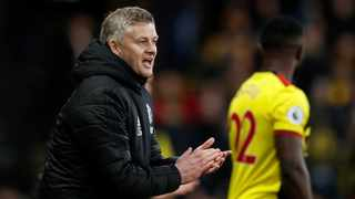 Manchester United manager Ole Gunnar Solskjaer reacts during their Premier League encounter against Watford at Vicarage Road on Sunday. Photo: Paul Childs/Reuters