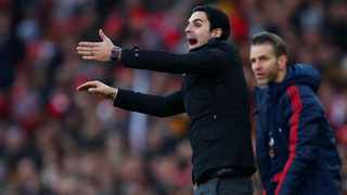 Arsenal manager Mikel Arteta reacts on the side of the pitch during their Premier League game against Chelsea at the Emirates Stadium on Sunday. Photo: Eddie Keogh/Reuters