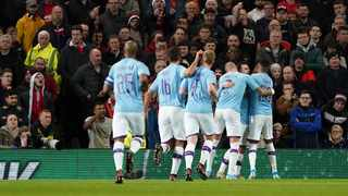 Holders Manchester City took a big step towards another League Cup showpiece with a 3-1 win over Manchester United in their semi-final, first leg at Old Trafford on Tuesday. Photo: Jon Super/AP Photo