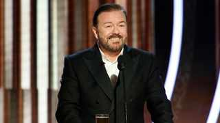 This image released by NBC shows host Ricky Gervais speaking at the 77th Annual Golden Globe Awards at the Beverly Hilton Hotel in Beverly Hills, Calif., on Sunday, Jan. 5, 2020. Picture: Paul Drinkwater/NBC via AP