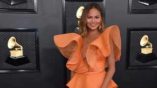 Chrissy Teigen arrives at the 62nd annual Grammy Awards at the Staples Center on Sunday, Jan. 26, 2020, in Los Angeles. Picture: Jordan Strauss/Invision/AP