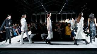 Ermanno Scervino women's Fall Winter 2020-21 collection, unveiled during the Fashion Week in Milan. Picture: AP Photo/Antonio Calanni