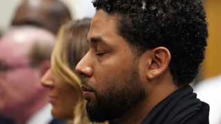 Actor Jussie Smollett appears in a courtroom at the Leighton Criminal Court Building in Chicago on Feb. 24, 2020, where he plead not guilty to restored charges that accuse him of staging a racist, homophobic attack against himself and falsely reporting it to police.  Picture: AP