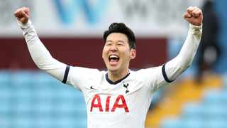 Son Heung-min reporting for duty after 14 days of self-isolation following his trip to South Korea. Photo: Nick Potts/PA via AP