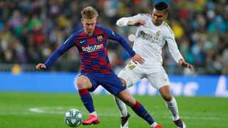 Barcelona will be without the injured Frenkie de Jong for their La Liga clash against Athletic Bilbao. Photo: Manu Fernandez/AP