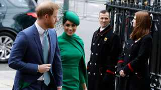 Britain's Harry and Meghan the Duke and Duchess of Sussex arrive to attend the annual Commonwealth Day service at Westminster Abbey in London, Monday, March 9, 2020. Picture: AP Photo/Kirsty Wigglesworth