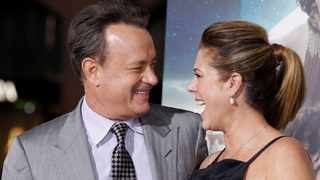 """Tom Hanks and his wife Rita Wilson arrive for the premiere of  """"Cloud Atlas"""" in Hollywood. Picture: Reuters"""