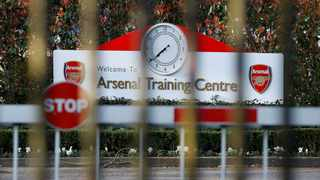 Arsenal reopened their London Colney training ground to first team players for individual training on Monday. Photo: Paul Childs/Reuters