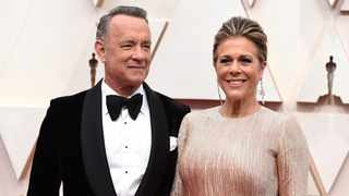 Tom Hanks, left, and Rita Wilson arrive at the Oscars at the Dolby Theatre in Los Angeles. Picture: Jordan Strauss/Invision/AP, File