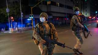 South African Defense Forces patrol downtown Johannesburg after the country went into a nationwide lockdown for 21 days in an effort to mitigate the spread to the coronavirus. Picture: Jerome Delay/AP/African News Agency (ANA)