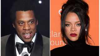 This combination photo shows Jay-Z and Rihanna.  Picture: AP Photo