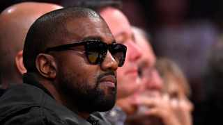 Kanye West watches during the second half of an NBA basketball game between the Los Angeles Lakers and the Cleveland Cavaliers in Los Angeles.Picture: AP Photo/Mark J. Terrill File