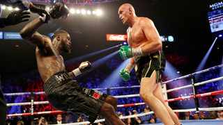 Tyson Fury overwhelmed Deontay Wilder in February to seize the WBC crown with a seventh round stoppage. Picture: Steve Marcus/Reuters