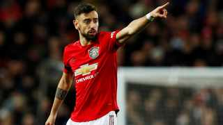Bruno Fernandes converted a penalty for Manchester United against Tottenham Hotspur. Picture: Action Images via Reuters