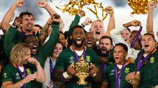 Just when South Africa needs inspiring again, Siya Kolisi is drawing on the sense of national unity that last year's Rugby World Cup triumph was forged on. Photo: AP Photo/Christophe Ena,