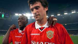 FILE - Former Manchester United players Dwight Yorke and Roy Keane following their 3-2 win against Juventus in their Champions League semi-final second leg match in Turin in 1999. Photo: Reuters