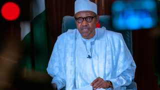 Nigerian President Muhammadu Buhari addresses the nation in Abuja