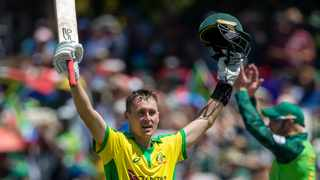 """Australia's Marnus Labuschagne is bracing for """"heaps and heaps of cricket"""" once the COVID-19 pandemic subsides, the prolific top order batsman said on Saturday. Photo: AP Photo/Themba Hadebe"""