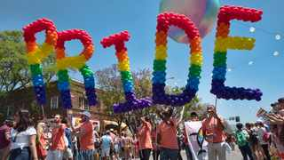 This June 9, 2019 file photo shows participants in the 49th annual Los Angeles Pride Parade in West Hollywood. Picture: AP