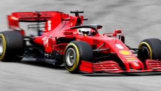 Sebastian Vettel returned to the race track on Tuesday ahead of the delayed start to his final Formula One season with Ferrari. Photo: Joan Monfort/AP Photo