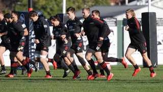 Crusaders players practice during a training session at Rugby Park in Christchurch. New Zealand's Super Rugby Aotearoa will start on June 13 in a new five-team, 10-week competition. Picture: Mark Baker/AP