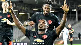 Manchester United's Odion Ighalo celebrates after scoring the opening goal during the Europa League round of 16 first leg soccer match between Linzer ASK and Manchester United in Linz, Austria, Thursday, March 12, 2020.Photo: AP Photo/Kerstin Joensson