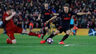 Atletico Madrid's Marcos Llorente had only scored three goals before his quick-fire double against Liverpool. Picture: Reuters