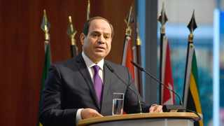 """Egypt's President Abdel Fattah al-Sisi speaks at the """"G20 Investment Summit - German Business and the CwA Countries 2019"""" in Berlin, Germany. File picture: John MacDougall/Pool via AP"""