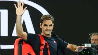 Switzerland's Roger Federer waves to the crowd after exiting the Australian Open earlier this year. Kai Pfaffenbach/Reuters