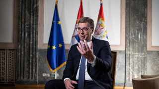 Serbian President Aleksandar Vucic attends an interview with Reuters in Belgrade. File picture: Marko Djurica/Reuters