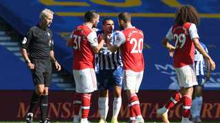 Arsenal manager Mikel Arteta last night leapt to his players' defence after Brighton striker Neal Maupay accused them of arrogance following a bad-tempered clash at the Amex Stadium. Photo: Mike Hewitt/Retuers