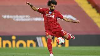 Liverpool's Mohamed Salah scores the second goal during their English Premier League against Crystal Palace at Anfield. Picture: Paul Ellis/Pool via AP