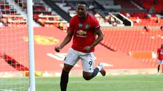 Manchester United's Anthony Martial scored a hat trick against Sheffield United. Picture: Michael Steele/Pool via AP