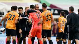 Wolverhampton Wanderers boss Nuno Espirito Santo is not getting carried away by his team's form since the Premier League's restart, pointing instead to the tough run of games standing between them and possible Champions League qualification. Photo: Tim Keeton/Reuters