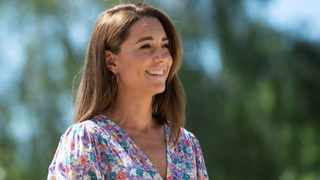 The Duchess of Cambridge has been declared the queen of lockdown fashion – with five of her Zoom outfits selling out within days or even hours. Picture: Reuters