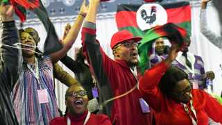 Malawi Congress Party supporters celebrate after party leader Lazarus Chakwera was announced the winner of Tuesday's election rerun in Blantyre, Malawi. Picture: AP Photo/Thoko Chikondi