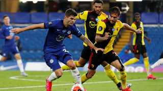 Christian Pulisic's form in Chelsea's win over Watford drew comparisons to Belgian hotshot Eden Hazard, who left the club for Real Madrid last season. Photo: Matthew Childs/Reuters