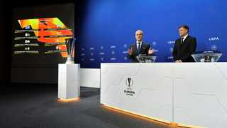 The draw for the Europa League quarter-finals and semi-finals was held at UEFA's headquarters in Nyon. Photo: via Reuters